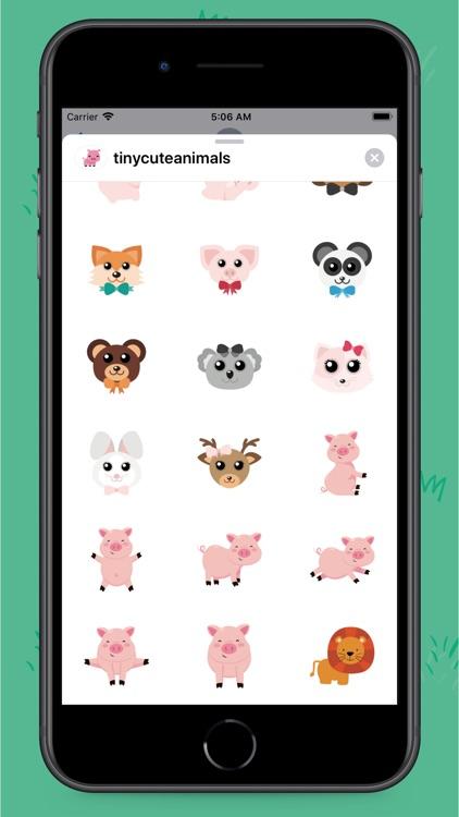 Tiny Animals Stickers screenshot-4
