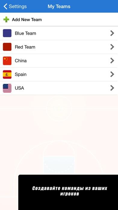 Screenshot for Тактическая панель баскетбол in Russian Federation App Store