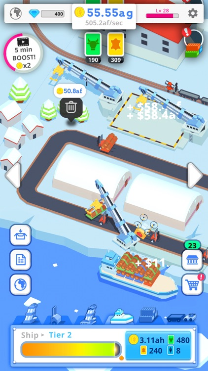Idle Port Tycoon - Sea game screenshot-3
