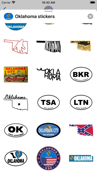 Oklahoma emoji - USA sticker screenshot 3