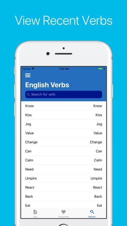 English Verb Conjugator Pro screenshot-6