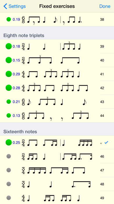 Rhythm Sight Reading Trainer app image