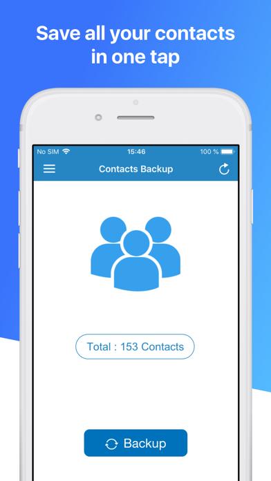 Contacts Backup Pro & Restore Screenshot