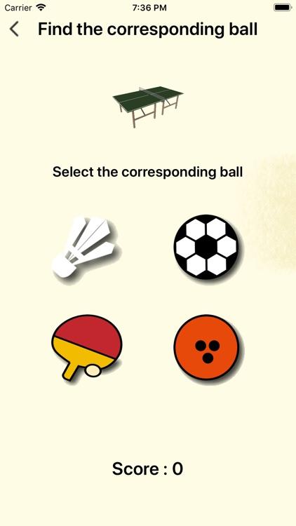Children Know Sports Equipment
