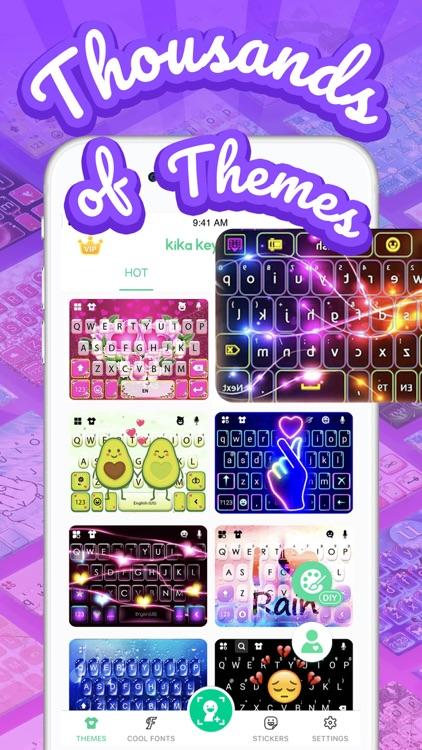 Kika Keyboard - Themes, Emojis