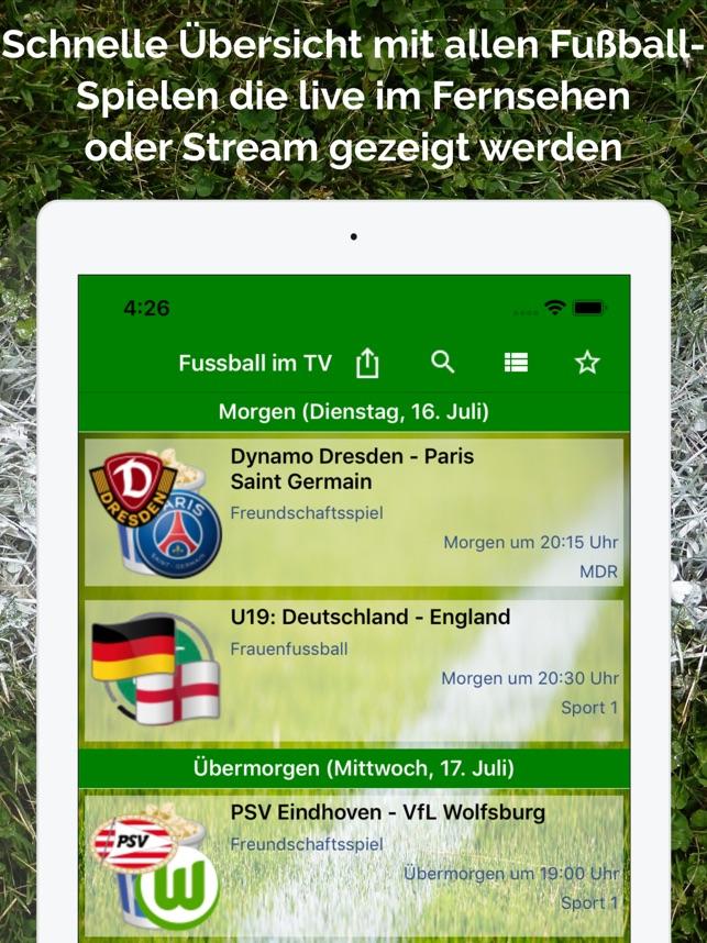 Fussball Im Tv Live Im App Store