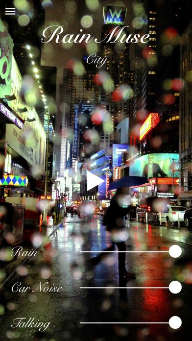 Screenshot of RainMuse App