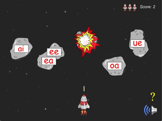Long Vowel Rocket Game Screenshots