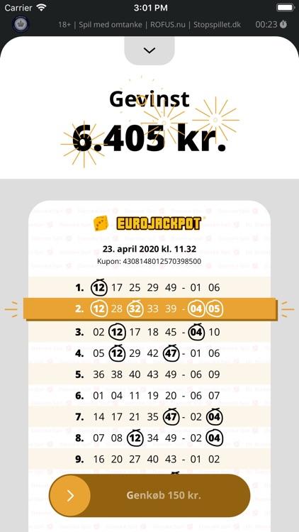 Lotto – Køb spil, se vindertal screenshot-3