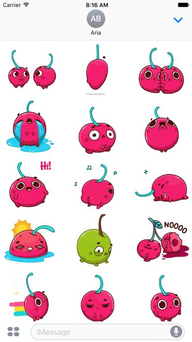 Animated Hot Cherry Sticker screenshot 2