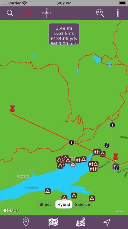 Sierra National Forest – GPS screenshot-3