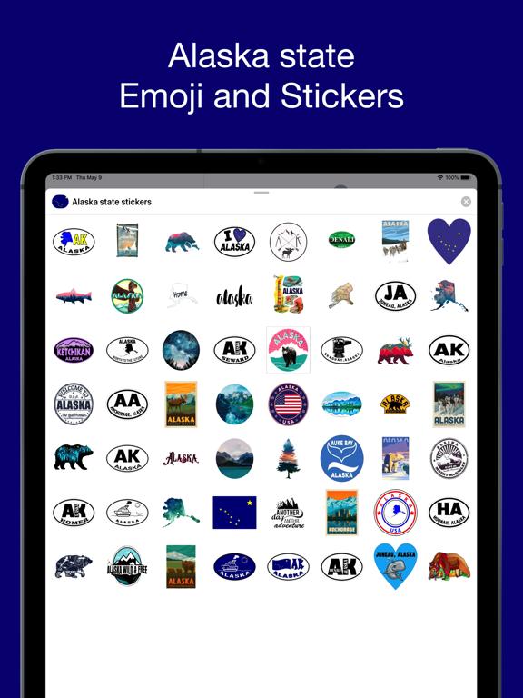 Alaska emojis - USA stickers screenshot 6