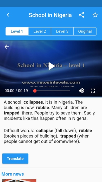 English News in Levels
