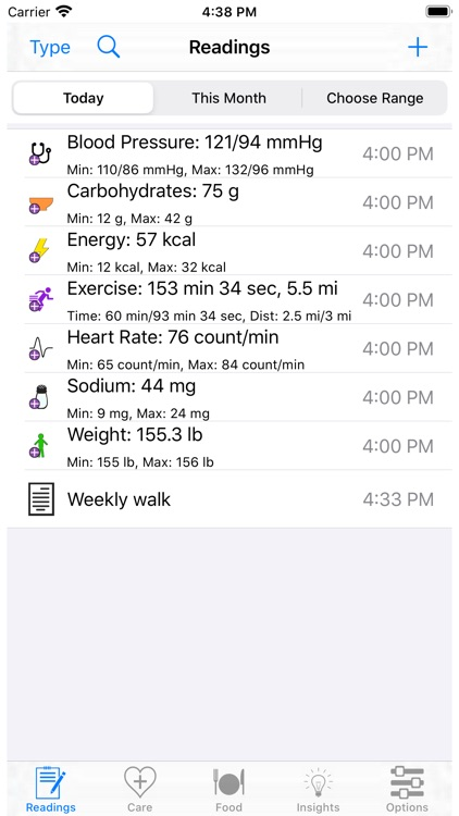 HealthGear - Blood Pressure