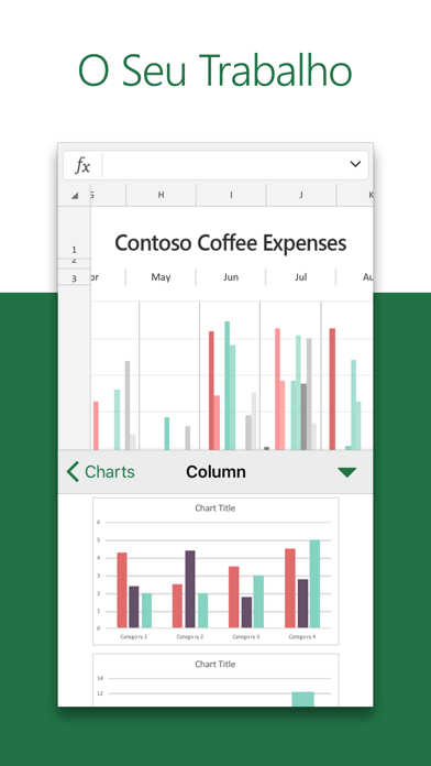 Screenshot for Microsoft Excel in Portugal App Store