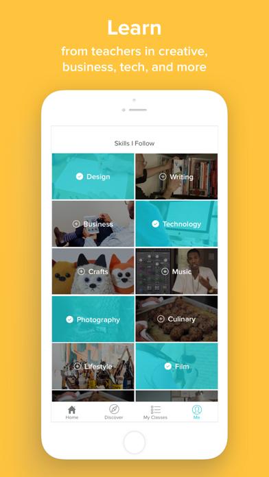 Skillshare iOS App