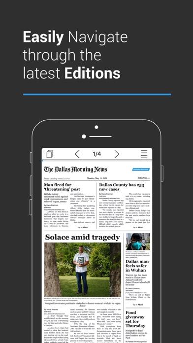The Dallas Morning News ePaper Screenshot