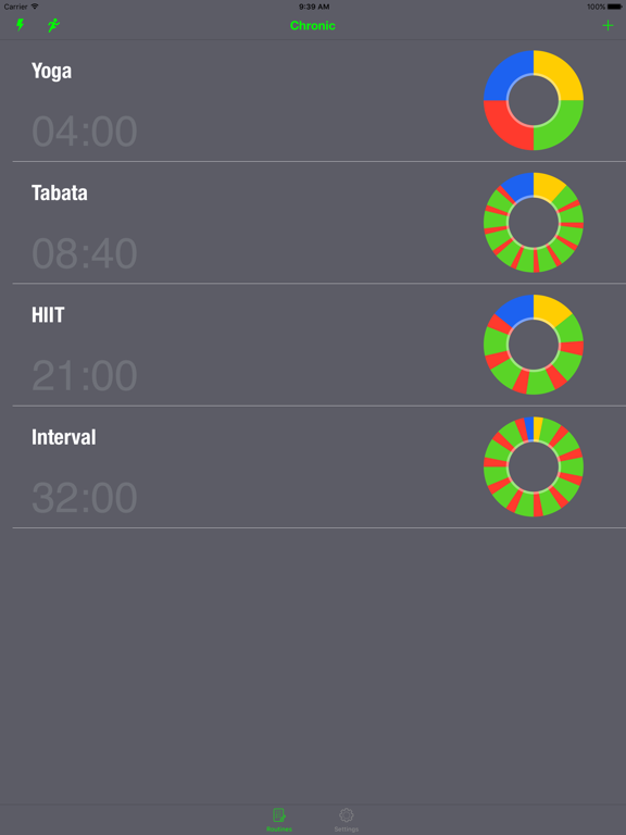 Chronic Timer & Run Tracker - For Interval, HIIT, Tabata, Boxing, Running, Hot Yoga, CrossFit Workouts screenshot