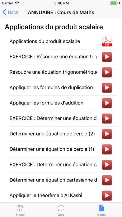 Cours de Maths screenshot 8