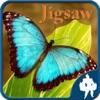 蝶のジグソーパズル
