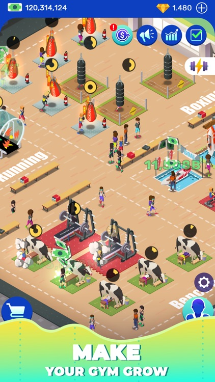 Idle Fitness Gym Tycoon - Game screenshot-3
