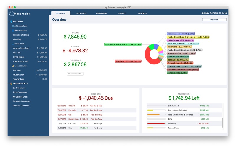 Moneyspire 2020 for Mac