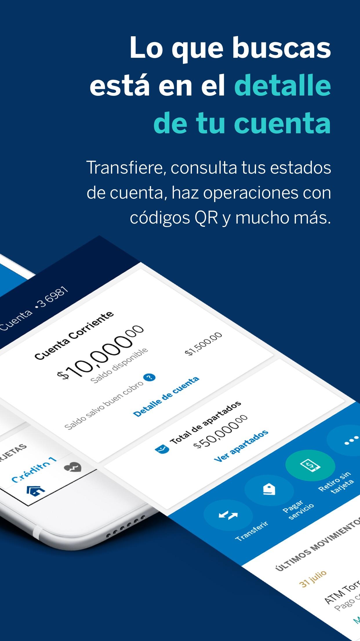 BBVA México (Bancomer Móvil) Screenshot