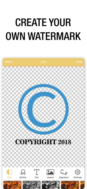 Watermark Photo: Add Copyright on the App Store