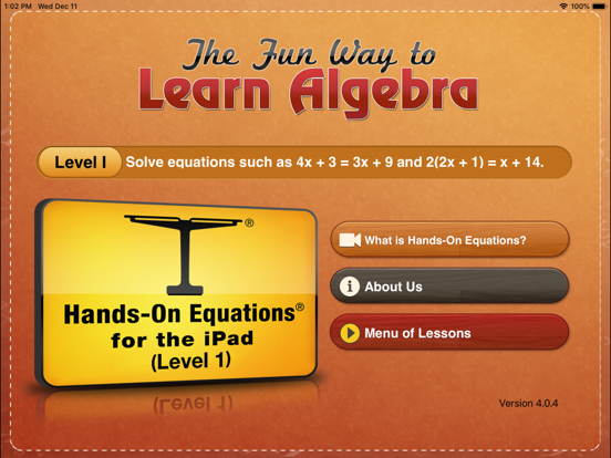 Hands-On Equations 1 Screenshots