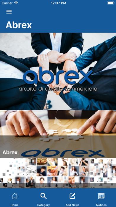 Screenshot of ABREX Circuito di Credito1