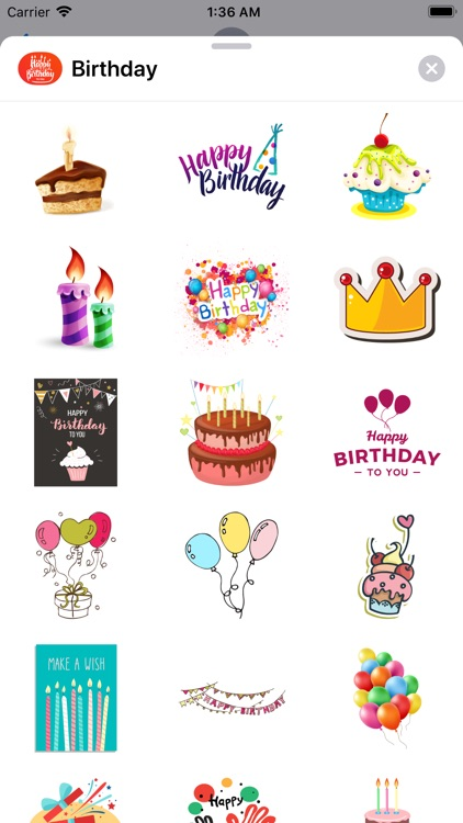 200+ Birthday MEGA Sticker App screenshot-7