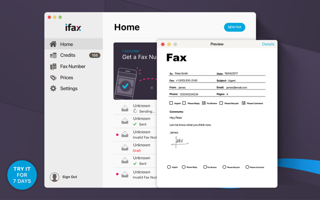 iFax: Send Fax & Receive Faxes on the Mac App Store