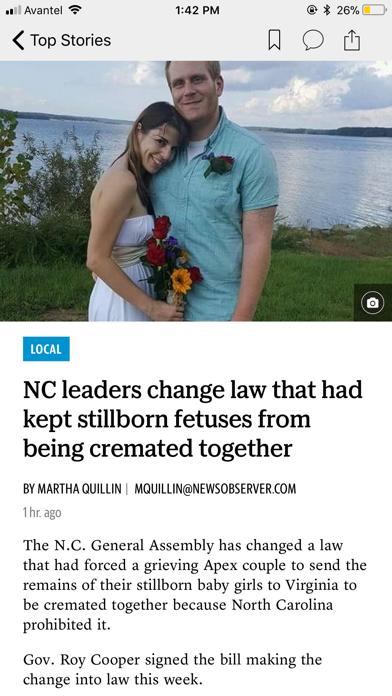 Durham Herald Sun screenshot two