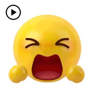 Animated New 3D Emoticon Emoji Logo