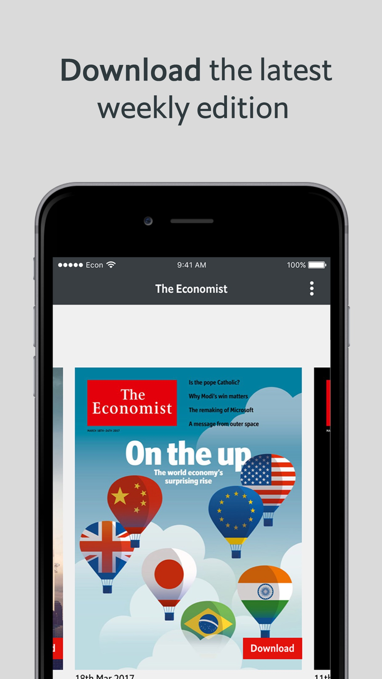 The Economist Classic EU Screenshot