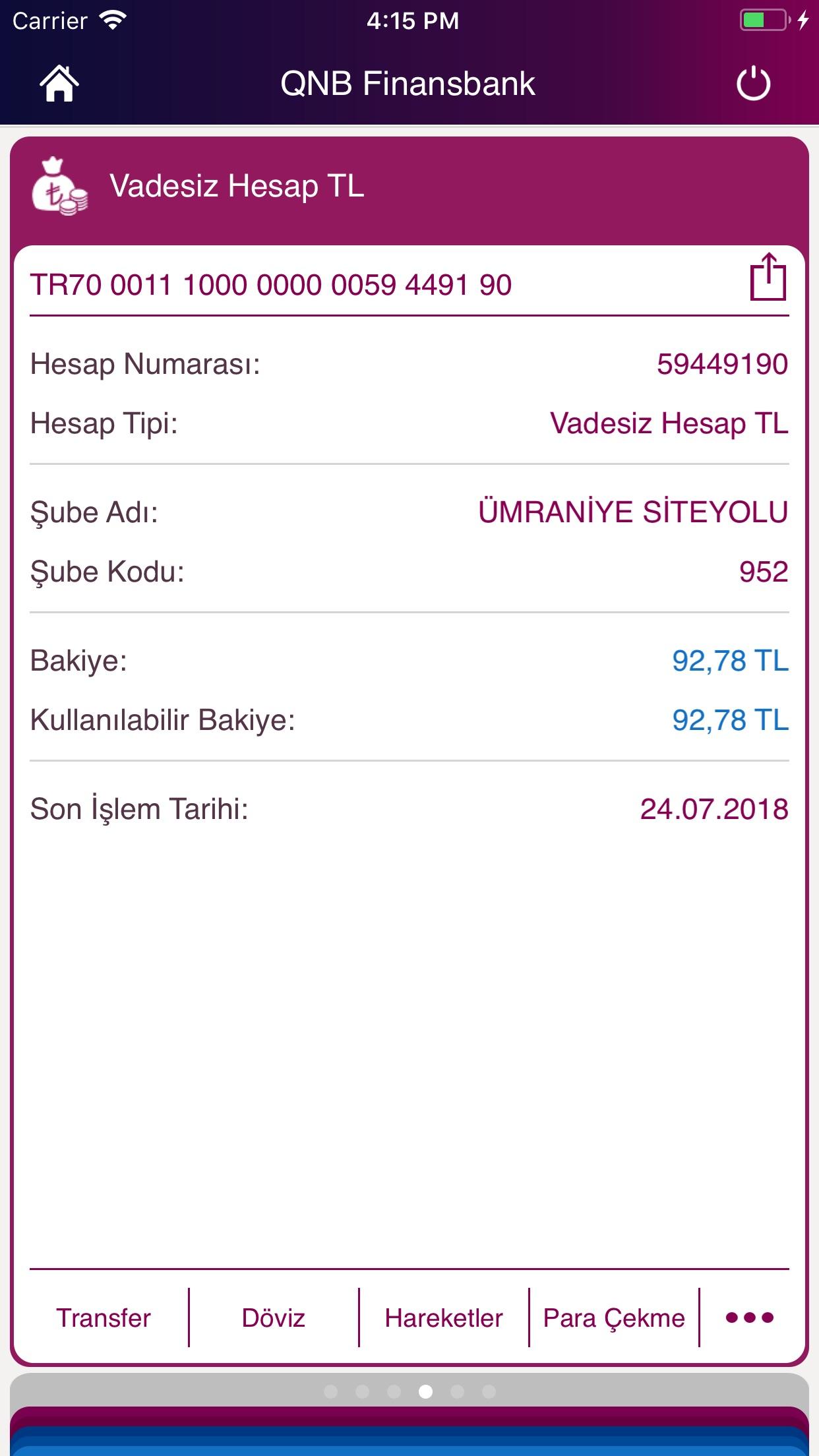 QNB Finansbank Cep Şubesi Screenshot