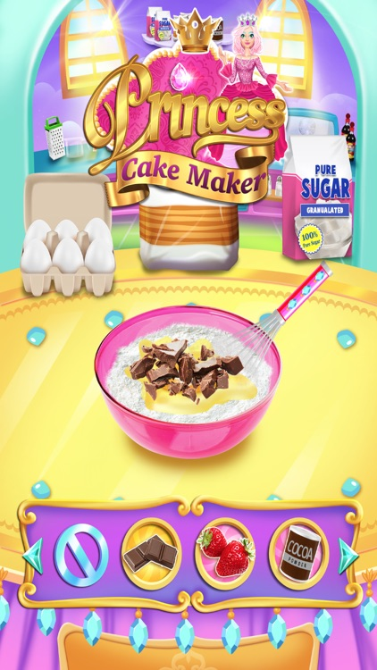 Rainbow Princess Cake Maker screenshot-3