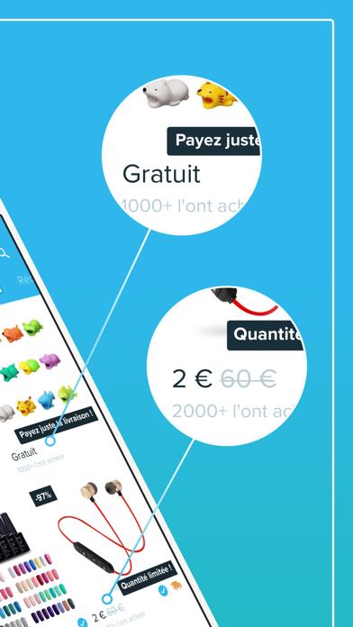 Screenshot for Wish - Acheter en s'amusant in France App Store