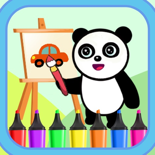 Panda Cars Coloring App