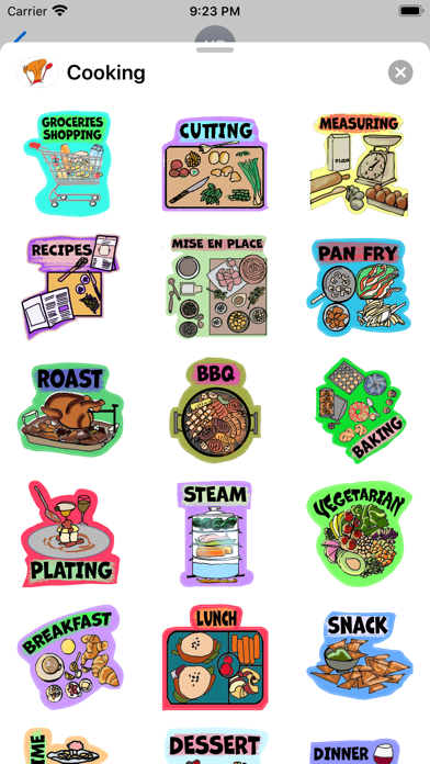 Cooking Time Stickers Screenshot