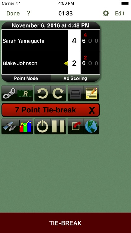 Tennis Score Tracker Basic