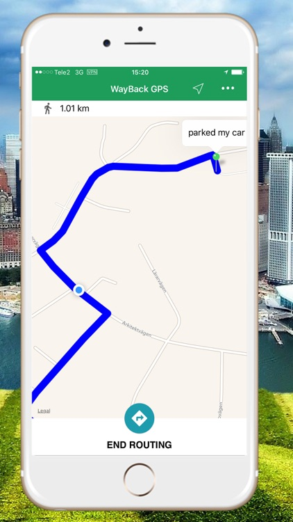 WayBack - GPS locator