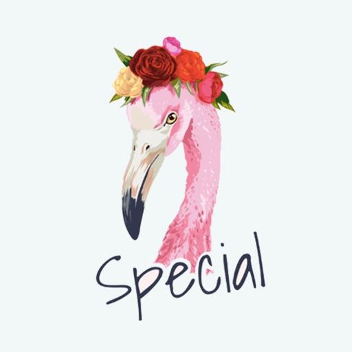 Flamingo Tropical Stickers