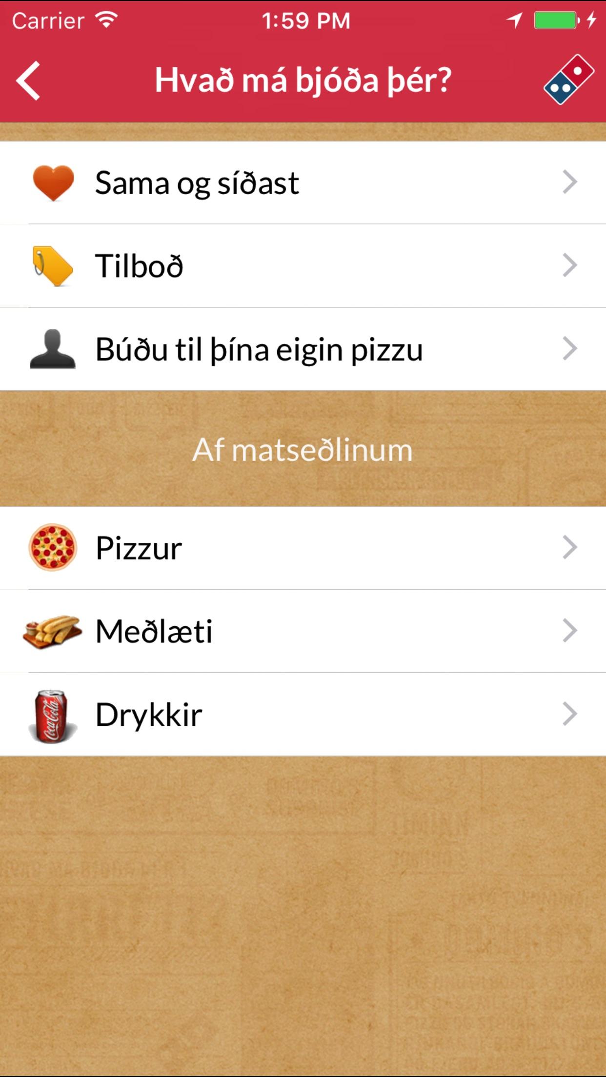 Domino's Iceland Screenshot