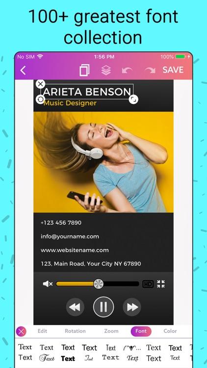 Business Card Maker, Creator screenshot-8