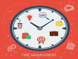 The TimeManagementMS is a small sticker, which are show the 50 Time Management sticker in cartoon