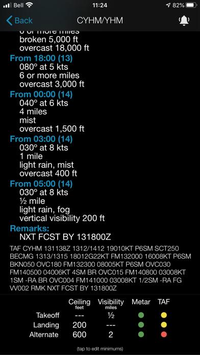Minimums - METAR/TAF Analysisのおすすめ画像6