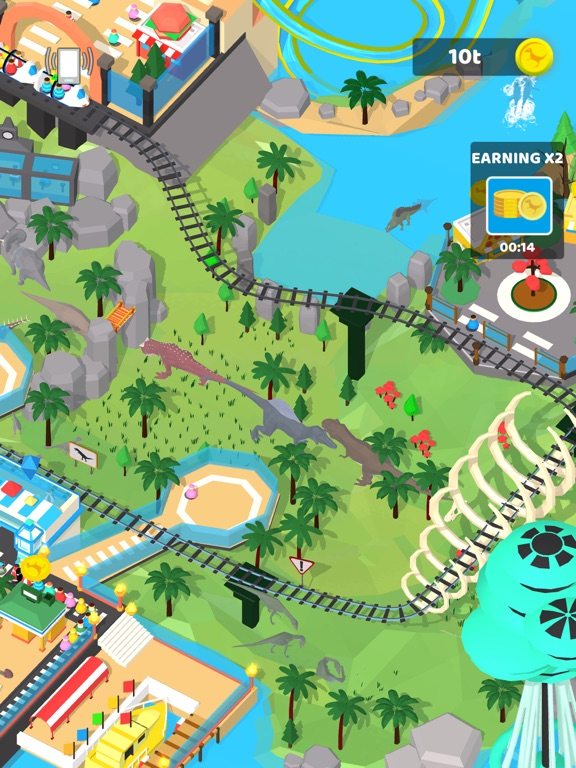 Idle Dino Theme Park screenshot 7