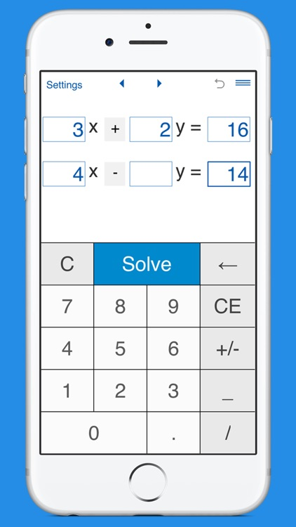 Systems of equations solver
