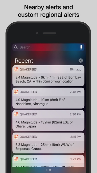 Screenshot for QuakeFeed Earthquake Alerts in United States App Store